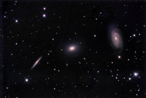 Draco Trio incl NGC5985 -- aka Herschel H764-2 galaxy group in Draco_2016-04-17