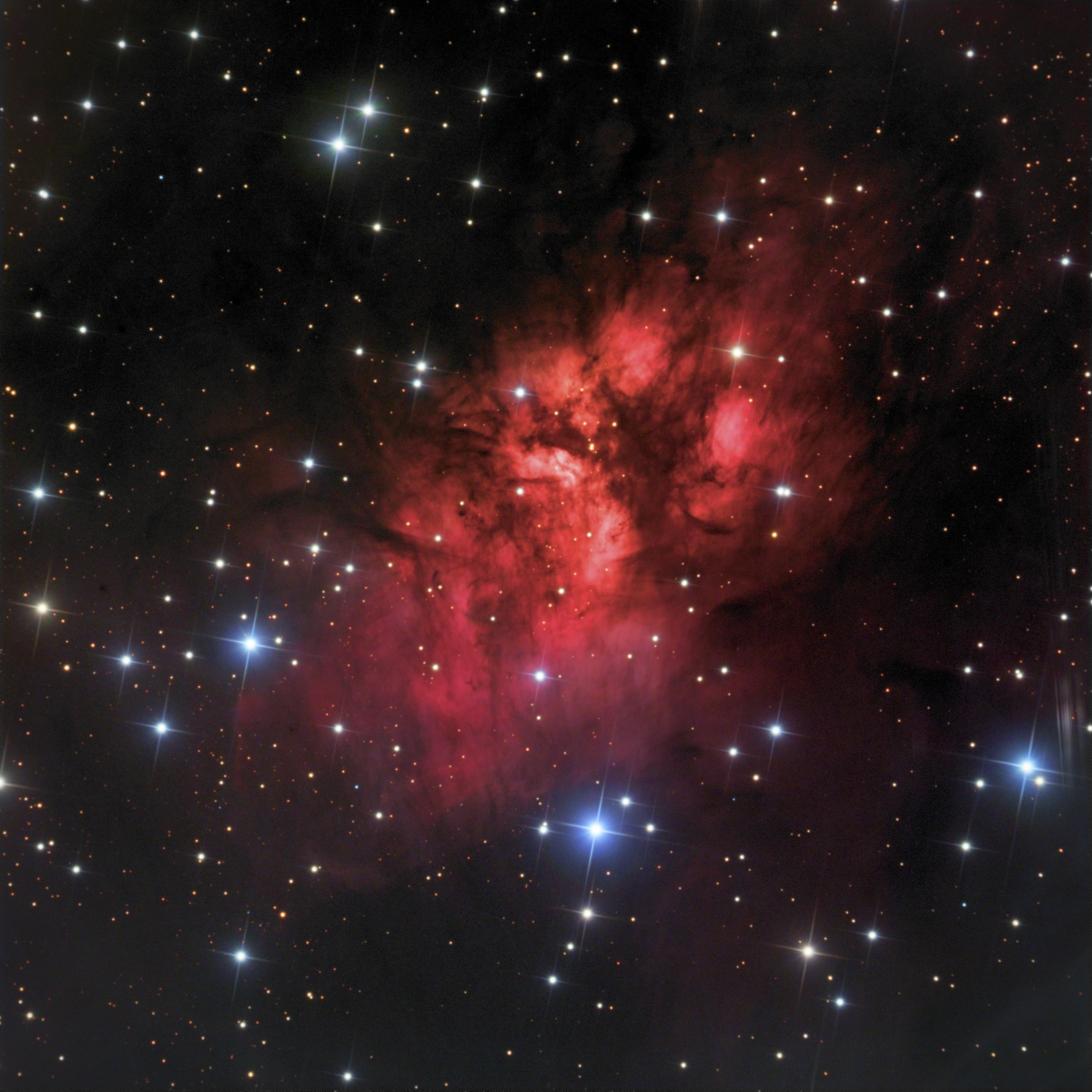 Gum 20 Emission Nebula in Vela_2017-04-29_SSRO